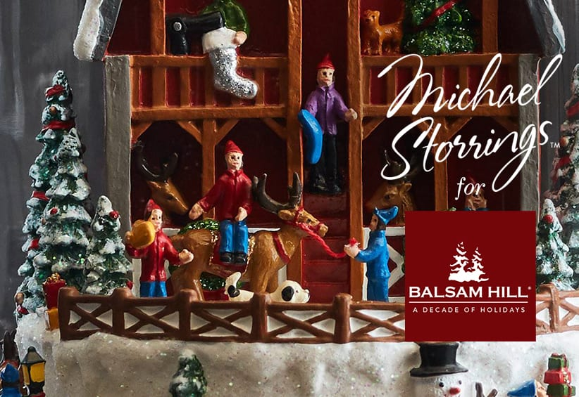 2018 New Introduction From Balsam Hill® Michael Storrings' Animated Reindeer Barn