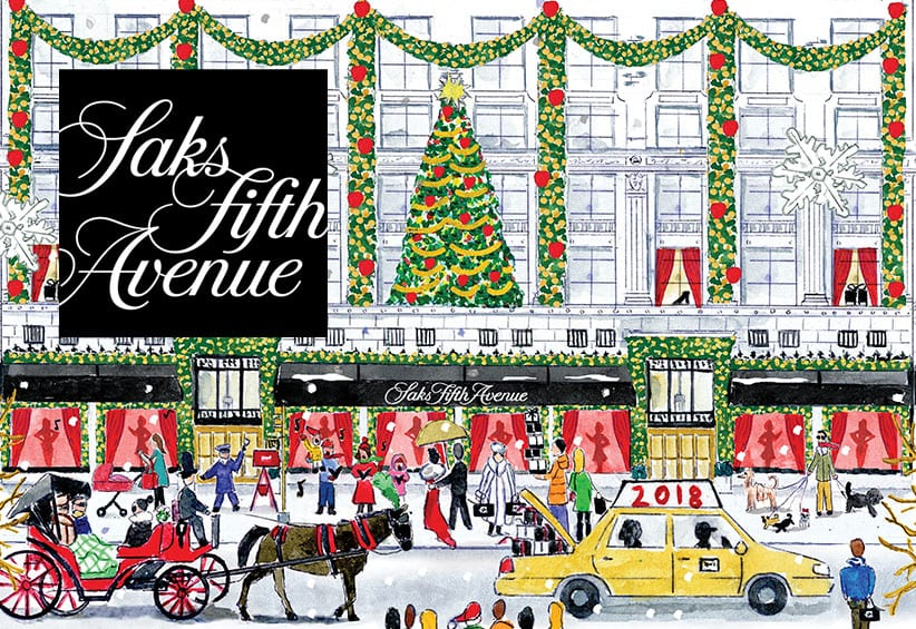 2018 Holiday Collaboration with Saks