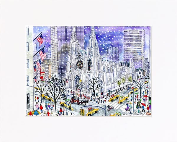 Cathedral in Winter Print